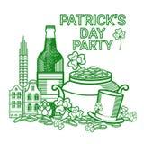Carte de voeux de Patrick Day Beer Festival Banner de saint Photo libre de droits