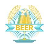 Carte de voeux de Patrick Day Beer Festival Banner de saint Images libres de droits
