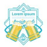 Carte de voeux de Patrick Day Beer Festival Banner de saint Image libre de droits