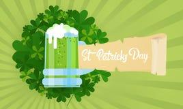 Carte de voeux de Patrick Day Beer Festival Banner de saint Photographie stock