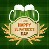 Carte de voeux de Patrick Day Beer Festival Banner de saint Photographie stock libre de droits