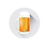 Carte de voeux de Patrick Day Beer Festival Banner de saint de tasse de bière illustration stock