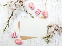 Carte de voeux de Pâques Images stock