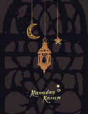Carte de voeux de Ramadan Kareem Images stock