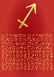 Carte de voeux de Sagittaire Photographie stock libre de droits