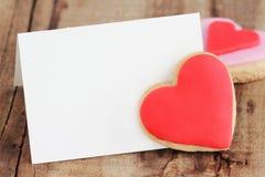 Carte de voeux de Saint-Valentin Photo libre de droits
