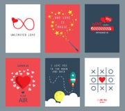 Carte de voeux de Saint-Valentin Photos libres de droits