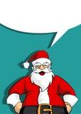 Carte de voeux de Santa avec la bulle sociale blanc Photographie stock libre de droits