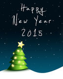 Carte de voeux de Silvester 2015 Photo libre de droits