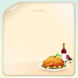 Carte de voeux de thanksgiving Photo libre de droits