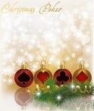 Carte de voeux de tisonnier de Noël Image stock