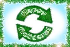 Carte de voeux de vacances d'hiver de style de tresse Photo libre de droits