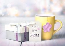 Carte de voeux de vacances du jour de mère personne Photo stock