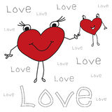 Carte de voeux de vacances pour la Saint-Valentin avec Images stock