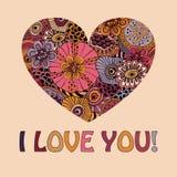 Carte de voeux de Valentine illustration stock