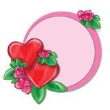 Carte de voeux de Valentine avec des coeurs Images libres de droits
