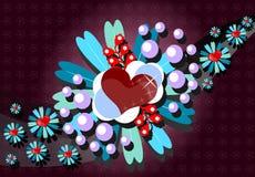 Carte de voeux de valentine de saint Image stock