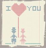 Carte de voeux de Valentines Image stock