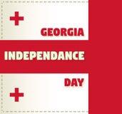 Carte de voeux de vecteur pour le Jour de la Déclaration d'Indépendance de la Géorgie Images libres de droits