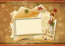 Carte de voeux des vacances de cru Images stock