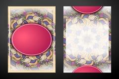 Carte de voeux double face colorée Images libres de droits