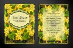 Carte de voeux double face colorée Images stock