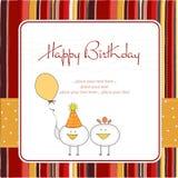Carte de voeux drôle de fête d'anniversaire Image stock