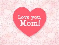 Carte de voeux du jour de mère Aimez-vous, maman Images libres de droits