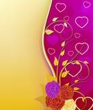 Carte de voeux du jour de Valentine Images stock