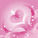 Carte de voeux du jour de Valentine illustration libre de droits