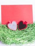 Carte de voeux du jour de Valentine Photos libres de droits