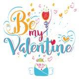 Carte de voeux du jour de Valentine illustration de vecteur