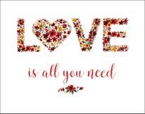Carte de voeux du jour de Valentine illustration stock