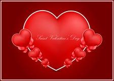 Carte de voeux du jour de Valentine de saint image libre de droits