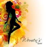 Carte de voeux du jour des femmes heureuses illustration libre de droits