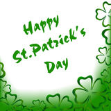 Carte de voeux du ` s de St Patrick Photos stock