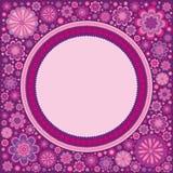 Carte de voeux en fleur et décor de perles illustration de vecteur