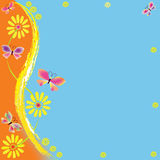 Carte de voeux enfantine de dessin animé Images libres de droits