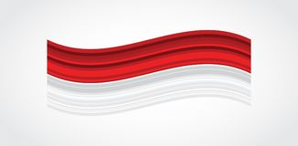 Carte de voeux et affiche de 17 August Indonesia Happy Independence Day feux d'artifice sur le fond indonésien de drapeau Illustration de Vecteur
