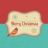 Carte de voeux et fond de Noël de vintage Image libre de droits