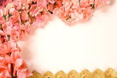 Carte de voeux florale Photographie stock libre de droits