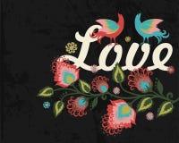 Carte de voeux florale Image stock