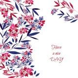 Carte de voeux florale Images libres de droits