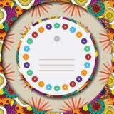 Carte de voeux florale colorée Image libre de droits