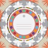 Carte de voeux florale colorée Images libres de droits