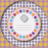 Carte de voeux florale colorée Photos stock