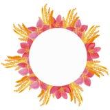 Carte de voeux florale d'aquarelle Bouquet floral d'aquarelle Trame décorative florale D'isolement sur le fond blanc Photographie stock