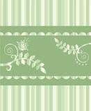 Carte de voeux florale d'Eco ou cadre sans joint Illustration Libre de Droits