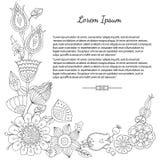 Carte de voeux florale de griffonnage Photos libres de droits