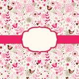 Carte de voeux florale mignonne Image libre de droits